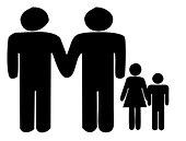 Concept - Gay family. - Stock Image - BR2MC8