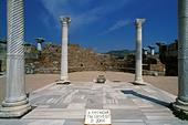 Turkey, Selcuk, Burial site of Saint John in Basilica of Saint John - Stock Image - A8H1A6