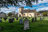 PARISH CHURCH OF ST MARY AT PORTSKEWETT MONMOUTHSHIRE ON CALDICOT LEVELS ON THE SEVERN ESTUARY. Monmouthshire Wales UK - Stock Image - D6N957