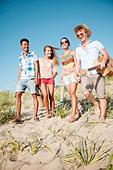 young group having fun outdoors - Stock Image - CYTAB2