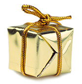 Wrapped gift - Stock Image - APD38X