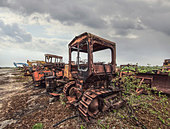 scrap heavy machinery - Stock Image - D8G474