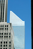 CitiBank Building in Manhattan New York City USA with Copy Space - Stock Image - AJXMBW
