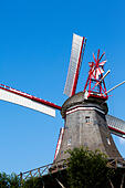 Am Wall Windmill, Bremen, Germany - Stock Image - E744M2