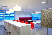 Modern commercial lunch room - Stock Image - CBA7MC