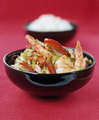 Chinese prawn stir-fry - Stock Image - BD517M