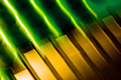 Electronic contacts, abstract image taken with a high magnification macro lens. - Stock Image - CR1F7J