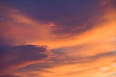 Colorful cloud mass in sky - Stock Image - BA6191