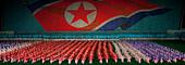 Arirang Mass Games in May Day stadium in Pyongyang, North Korea - Stock Image - CN16P7