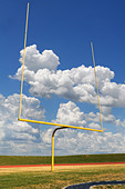 Football goal on a bright sunny day - Stock Image - BDKXJC