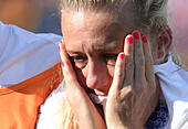 Edmonton, Canada. 1st July, 2015. England's Laura Bassett reacts after losing the semifinal to Japan at the 2015 FIFA Women's World Cup in Edmonton, Canada, July 1, 2015. England lost the match 1-2. © Wang Yuguo/Xinhua/Alamy Live News - Stock Image - EWX1RR