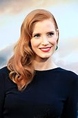 epa04465664 US actress and cast member Jessica Chastain arrives for the Los Angeles premiere of 'Interstellar' at the TCL Chinese Theater in Hollywood, Los Angeles, California, USA 26 October 2014. The movie opens in the US on 07 November 2014.  EPA/NINA PROMMER - Stock Image - E9M9JD