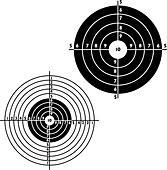 Set targets for practical pistol shooting, exercise. Vector illustration - Stock Image - DNKT8B