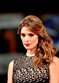 "Venice, Italy. 4th Sep, 2014. Actress Ashley Greene poses on the red carpet for ""Burying the ex"" which is selected for screening during the 71st Venice Film Festival, in Lido of Venice, Italy, Sept. 4, 2014. © Xu Nizhi/Xinhua/Alamy Live News - Stock Image - E72RR1"