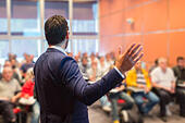 Speaker at Business Conference and Presentation. - Stock Image - ENEEX2