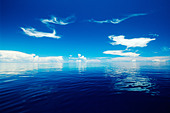 The vast blue of the open ocean Fiji Indo Pacific - Stock Image - ATDP9G