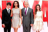 Dylan Douglas, Catherine Zeta Jones, Michael Douglas and Carys Douglas arriving for the European premiere of Ant-Man, at Odeon Leicester Square, London. 08/07/2015/picture alliance - Stock Image - EXA8R4