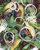 detail of mixed green salad - Stock Image - EAECDM