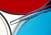 Close up of petri dish and pipette - Stock Image - C6E1TP