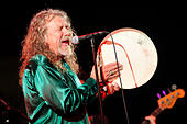 Brno, Czech Republic. 23rd July, 2015. British singer Robert Plant performs with the music band The Sensational Space Shifters in Brno, Czech Republic, July 23, 2015. © Vaclav Salek/CTK Photo/Alamy Live News - Stock Image - EY7RBG