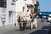 Tourist carriage ride, Larnaca, Cyprus - Stock Image - E127WM