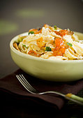 Bowl of Goast Cheese Pasta - Stock Image - BJMA1P
