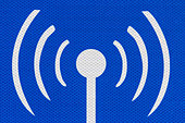 Internet hotspot public access road sign detail. - Stock Image - D343K6