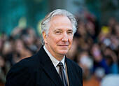 """Toronto, Canada. 13th Sep, 2014. British director Alan Rickman attends the premiere of film """"A Little Chaos"""" during the 2014 Toronto International Film Festival in Toronto, Canada, on Sept. 13, 2014. © Zou Zheng/Xinhua/Alamy Live News - Stock Image - E7CM8Y"""