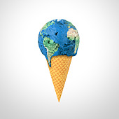 World ice cream - Stock Image - D0RJTP