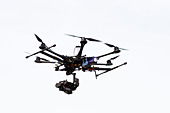 hexacopter Surveillance drone as used by Sky Sports - Stock Image - DDJEG0