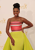 Los Angeles, California, USA. 25th Aug, 2014. Teyonah Parris attending the 66th Annual Primetime Emmy Awards -Arrivals held at the Nokia Theatre in Los Angeles, California on August 25, 2014. 2014 © D. Long/Globe Photos/ZUMA Wire/Alamy Live News - Stock Image - E6K1JW