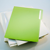 Pile of files - Stock Image - BATXT9