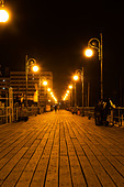 Larnaca Marina jetty at night. - Stock Image - E46DA2