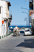 Tourist horse and cart ride, Larnaca, Cyprus - Stock Image - E1MGTC