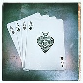4 aces playing cards - Stock Image - S0176J