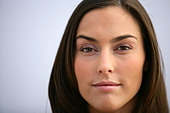 Closeup of an attractive woman's face - Stock Image - CB53NB