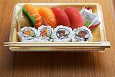 Sushi lunch box - Stock Image - APNW3Y