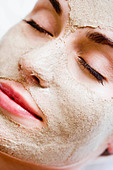 Woman with face mask - Stock Image - B9HE6H