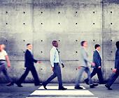 Commuter Business People Walking Office Building Organization Concept - Stock Image - EN6BFT