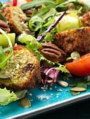 falafel salad - Stock Image - CBX6HA