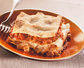 Lasagne with mince - Stock Image - BD4K16