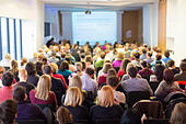 Speaker at Business Conference and Presentation. - Stock Image - EC299W