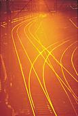 Railway Tracks - Stock Image - AJEB1C