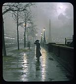 Embankment Lantern Slide - Stock Image - ANJPEC