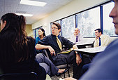 Businesspeople at a Seminar - Stock Image - EEB6A4