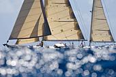 Alert, Phil Warneke's Philip Rhodes Ketch. Antigua Classic Yacht Regatta 2008, April 19, Race 2. - Stock Image - BR6YXM