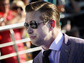 """Vladivostok, Russia. 13th Sep, 2014. American actor Stephen Baldwin attends the opening ceremony for the International Film Festival of the Asian Pacific Countries """"Pacific Meridian"""" at the Maritime Opera and Ballet Theater in Vladivostok. © Yuri Smityuk/ - Stock Image - E7JBRC"""