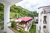 Modern hotel building, Gagra, Abkhazia - Stock Image - EA3CHT