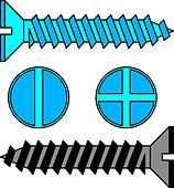 Stainless steel screw. Vector illustration. - Stock Image - DNKTE6