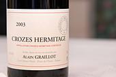 crozes hermitage 2003 domaine alain graillot rhone france - Stock Image - C0TDGR